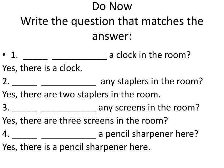 do now write the question that matches the answer n.