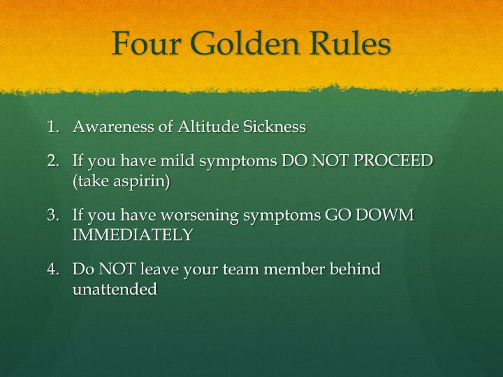 Four Golden Rules
