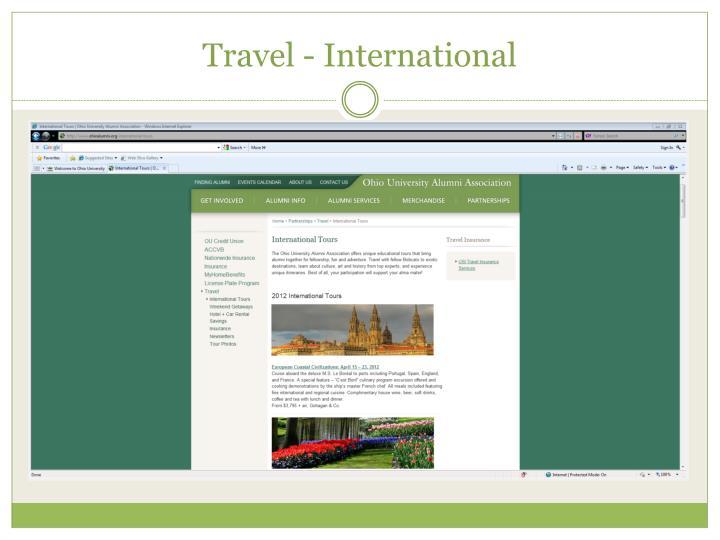 Travel - International