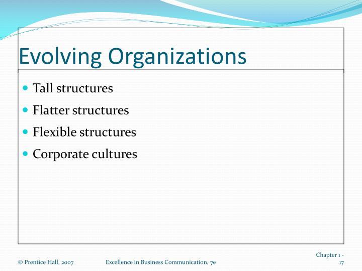 Evolving Organizations