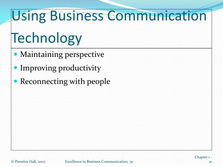Using Business Communication Technology