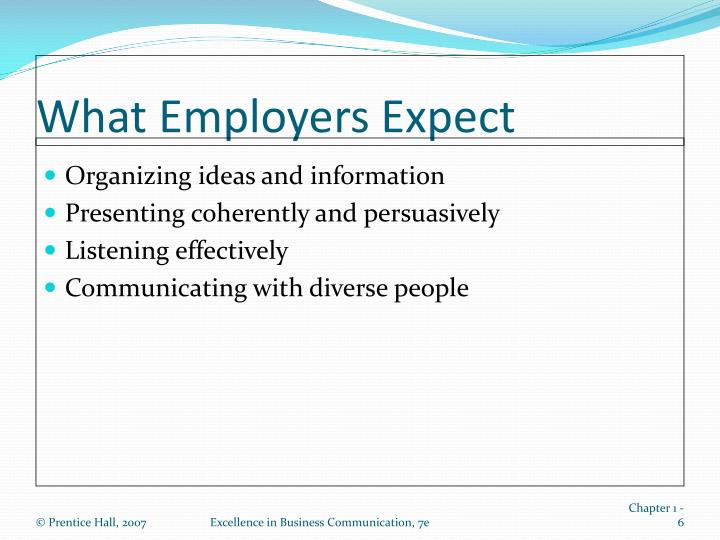 What Employers Expect