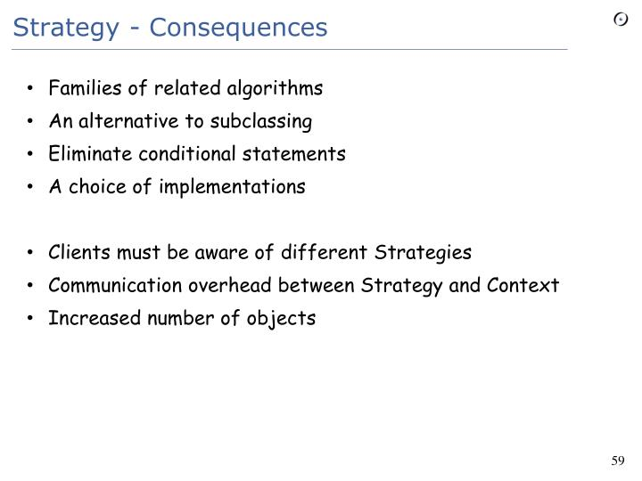 Strategy - Consequences