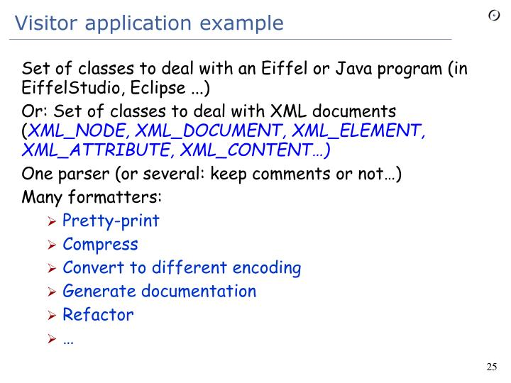 Set of classes to deal with an Eiffel or Java program (in EiffelStudio, Eclipse ...)