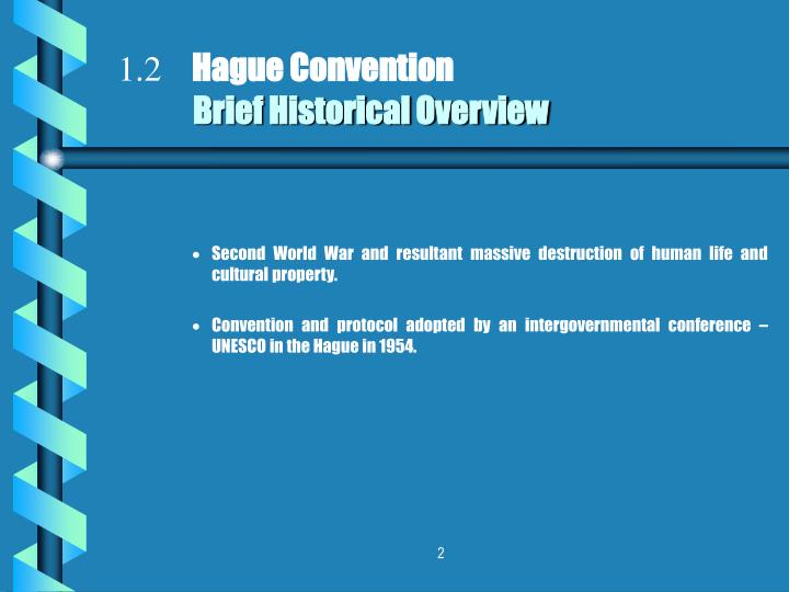 1 2 hague convention brief historical overview