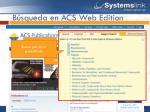 b squeda en acs web edition