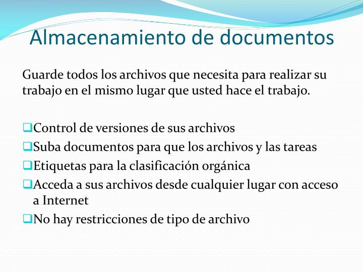 Almacenamiento de documentos