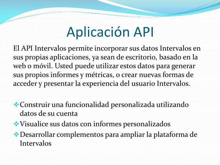 Aplicación API