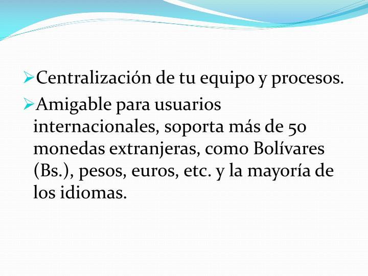Centralización