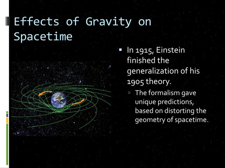 Effects of Gravity on