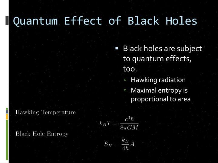 Quantum Effect of Black Holes