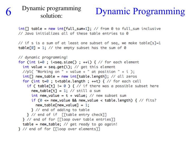 Dynamic programming solution: