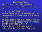 binomial coefficients1