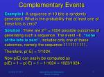 complementary events1
