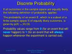 discrete probability1