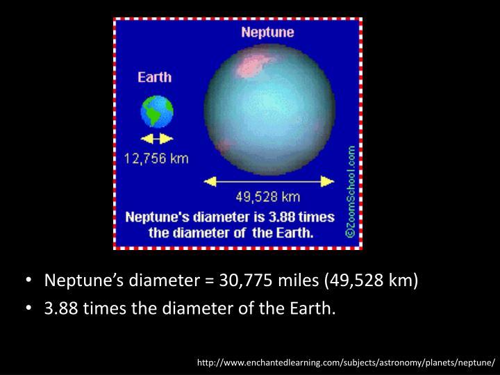 Neptune's diameter = 30,775