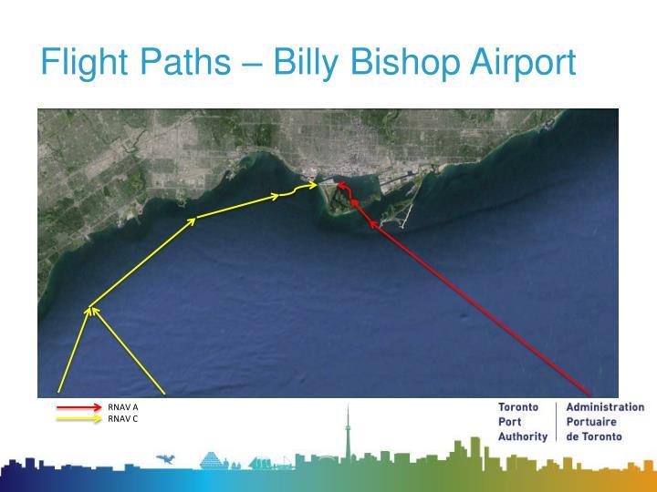Flight paths billy bishop airport