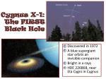 cygnus x 1 the first black hole