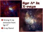 sgr a in x rays
