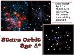 stars orbit sgr a