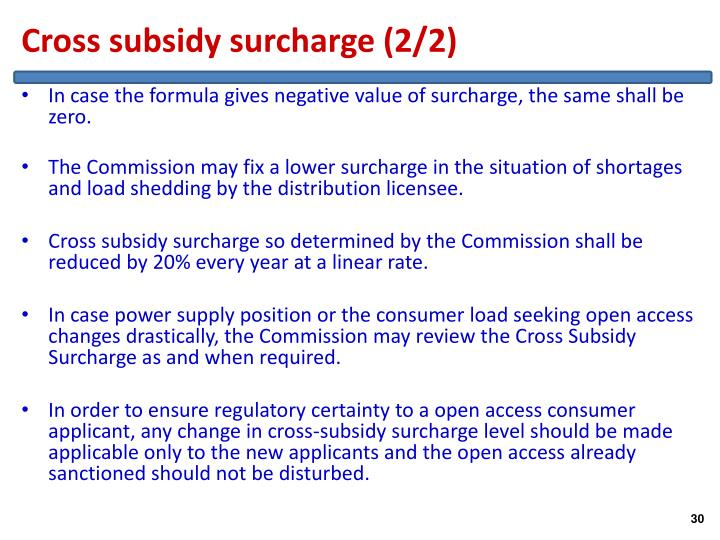 Cross subsidy surcharge (2/2)