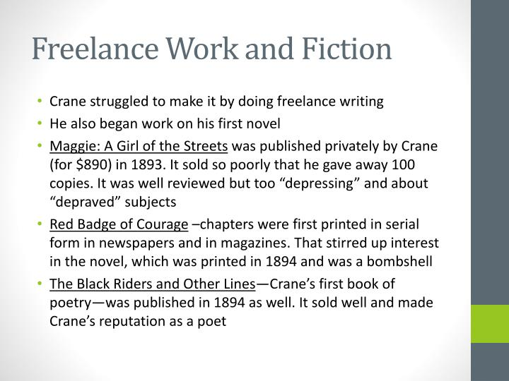 Freelance Work and Fiction
