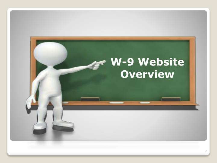 W-9 Website Overview