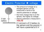 electric potential voltage