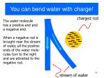 you can bend water with charge