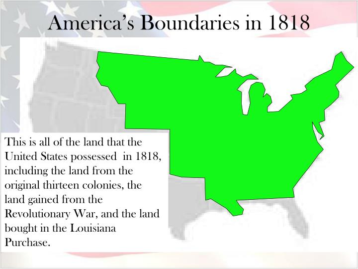 America s boundaries in 1818
