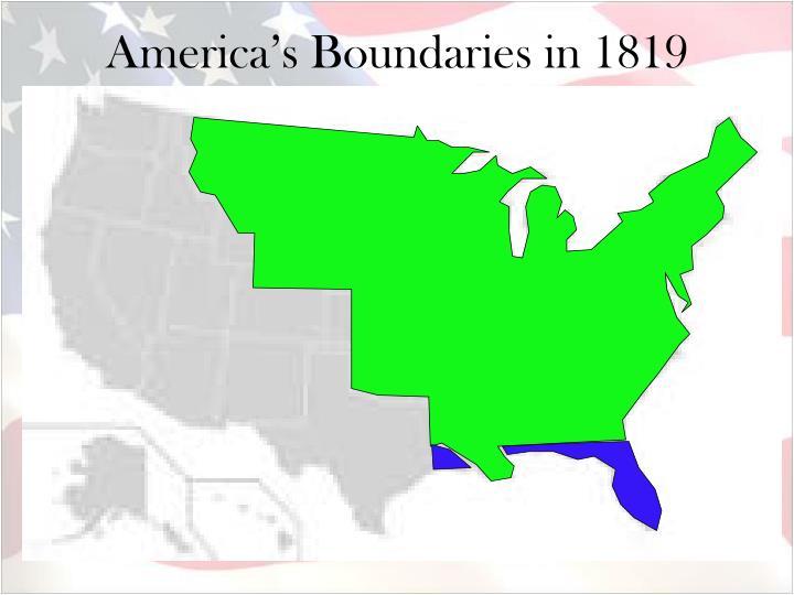 America's Boundaries in 1819