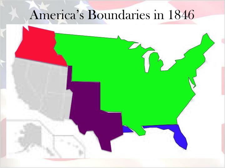America's Boundaries in 1846
