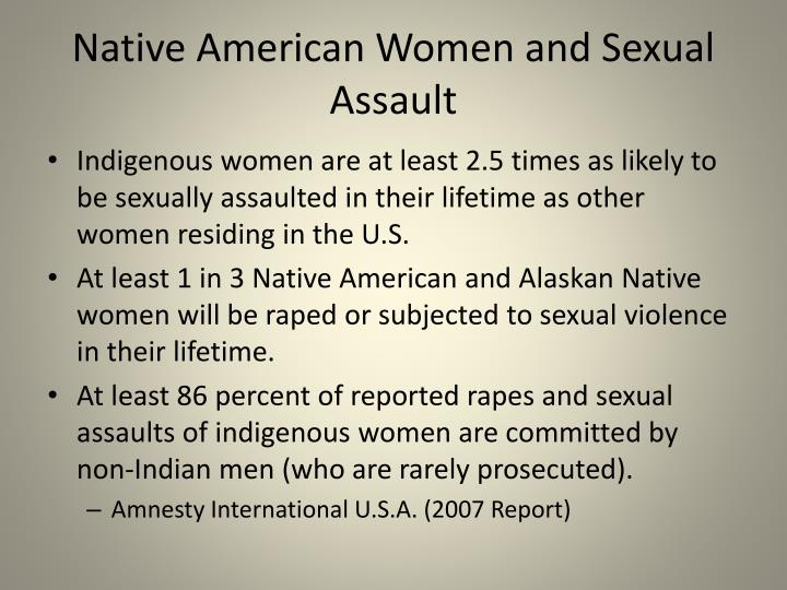 Native American Women and Sexual Assault