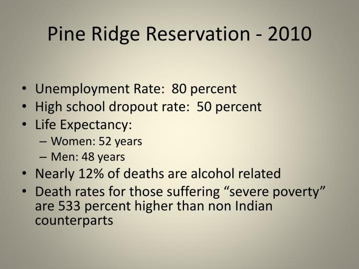 Pine Ridge Reservation - 2010