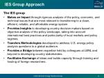 ies group approach