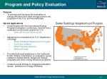 program and policy evaluation