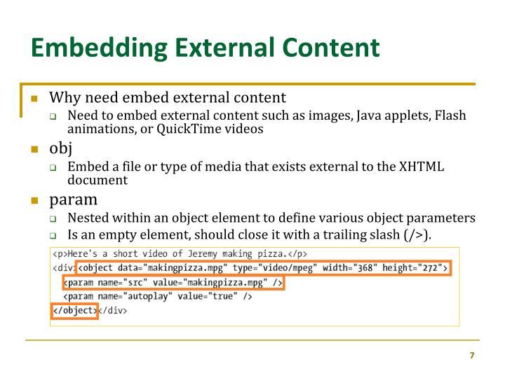 Embedding External Content