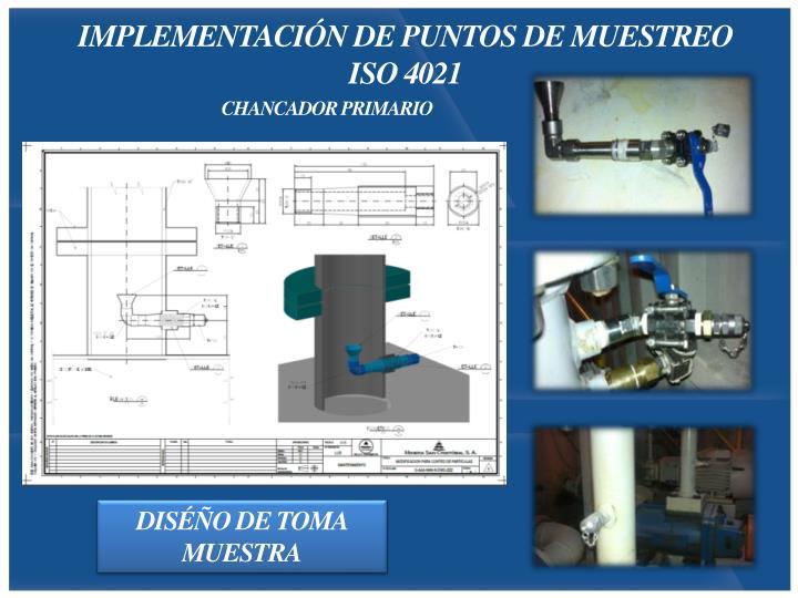 IMPLEMENTACIÓN DE PUNTOS DE MUESTREO ISO 4021