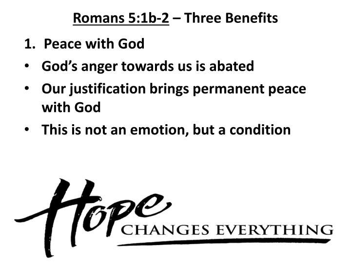 Romans 5:1b-2