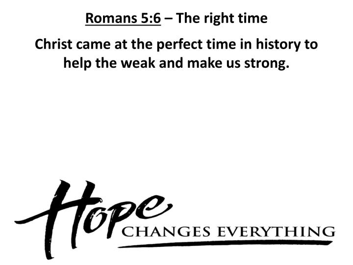 Romans 5:6