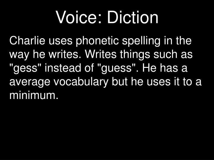 Voice: Diction