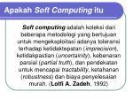 apakah soft computing itu