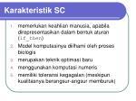 karakteristik sc