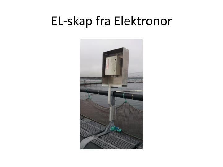 El skap fra elektronor