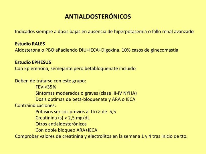 Antialdosterónicos