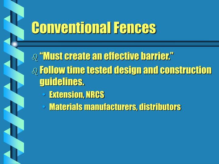 """""""Must create an effective barrier."""""""