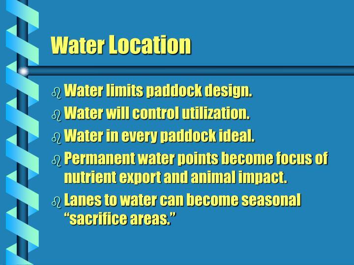 Water limits paddock design.