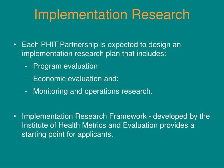 Implementation Research