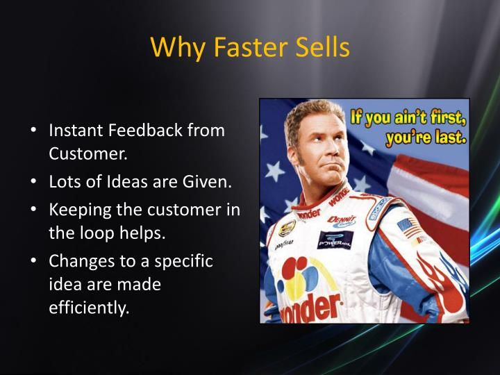 Why Faster Sells