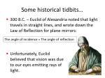 some historical tidbits
